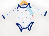 Boats and Whales Organic Cotton Long Sleeve Vest