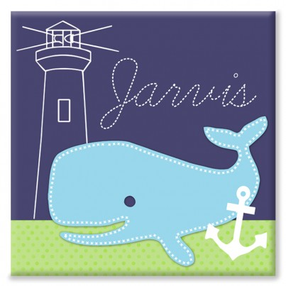 Whale Personalised Canvas