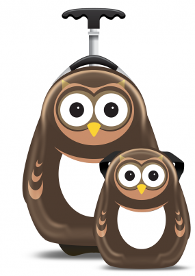 Pipi the Owl hard shell backpack from the Cuties and Pals