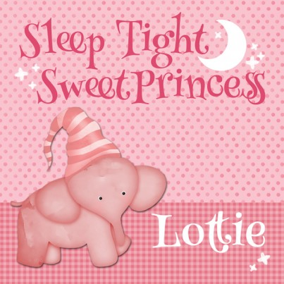 Sleep Tight Sweet Prince/Princess Personalised Canvas