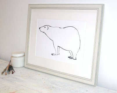 'Polar Bear'  Open Edition Print by Samantha Barnes.  Signed & Titled.