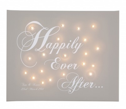 Happily Ever After - Personalised Illuminated Canvas Night Light