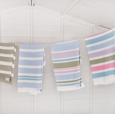 Selection of our Striped Cotton Blankets