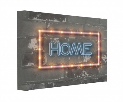 Neon Home - Illuminated Canvas Night Light
