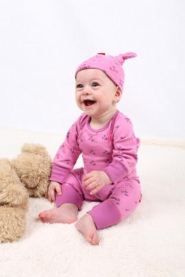 Tilly Pink Organic Romper in size 0-3 months and 3-6 months