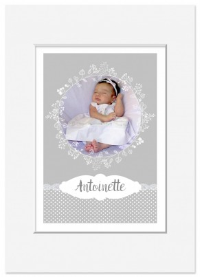 Lace personalised poster nursery print wall art