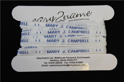 Express Sew on Woven Name Tapes Labels School Uniforms