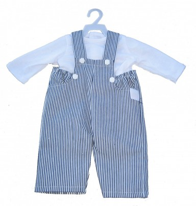 Boy Doll Clothes: Overall & Shirt Clothes Set