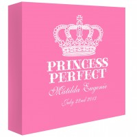 Princess Perfect Personalised Canvas