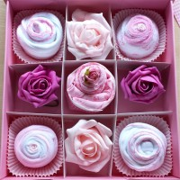 Baby cupcake set - Pink in 0-3 or 3-6 months