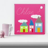 Cosy Cottage Personalised Canvas