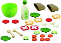 Wood and Felt Salad Bowl Set With 26 Pieces