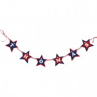 Wooden Personalised Red and Dark Blue Star Garland (price per letter)