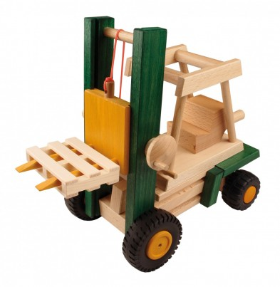 Uniwood wooden toy fork lift 2 of 4 set(1)