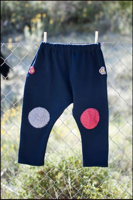 COTTON TROUSERS NAVY BLUE