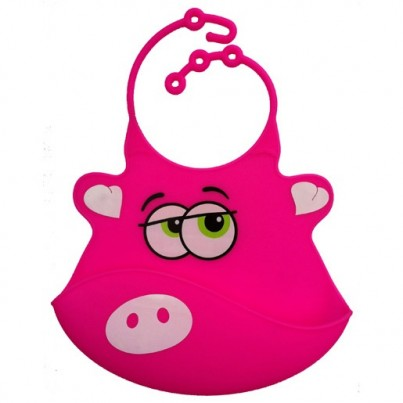 Catch All Baby and Toddler Bib - Poppy Pig