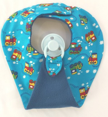Blue choo choo train Dummy bib