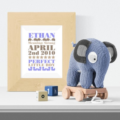 Elephant Meaning of Name Print