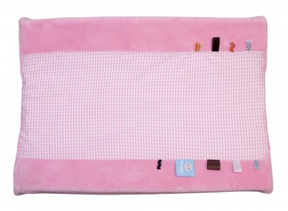 Organic Happy Days Changing Mat Cover-Elephany Pink