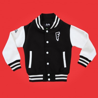 "BUY FRESH CLOTHING'S ""VARSITY"" KIDS JACKET"
