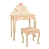 Teamson Princess & Frog Vanity Table & Stool