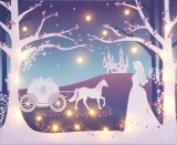 'Cinderella' design Illuminated Canvas
