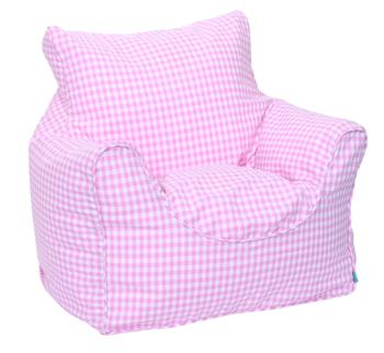 Babyface Pink Gingham Bean Bag Chair