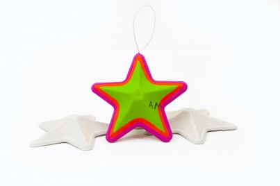 The finished product; just one of the many ways you can decorate your Stars!