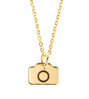 Gold Plated Camera Necklace (46cm)