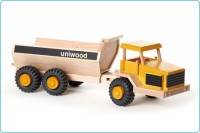 Uniwood Wooden Toy Big 6 wheeled Dumper Truck