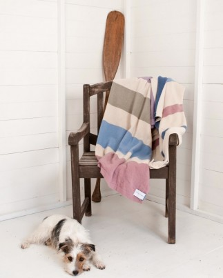 Large Lambswool blanket with bag and waterproof backing for those picnics
