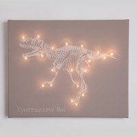 T-Rex Illuminated Canvas Night Light
