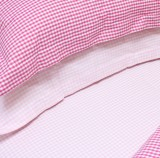 Babyface Pink Gingham Single Fitted Sheet