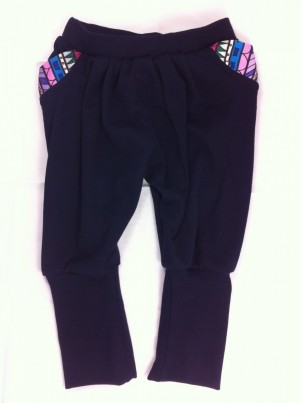 NAVY SLACKER PANTS