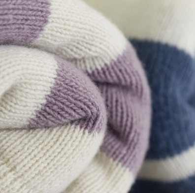 Close up image of our blankets rolled