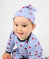 Sleepy Stars Organic Cotton Knotted Hat (0-6 months)