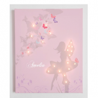Personalised Fairy Illuminated Canvas Night Light