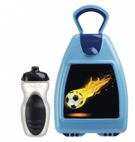 Blue lunchbox with football