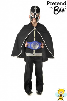 Polyester bi-stretch cape, elasticated printed mask, printed championship belt with velcro fastening.  For all those WWE fans out there!  Also doubles up as a fantastic Superheroes Outfit.  Quick and Easy Dressing Up