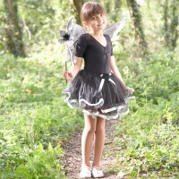 Black/Silver Fairy Costume Set
