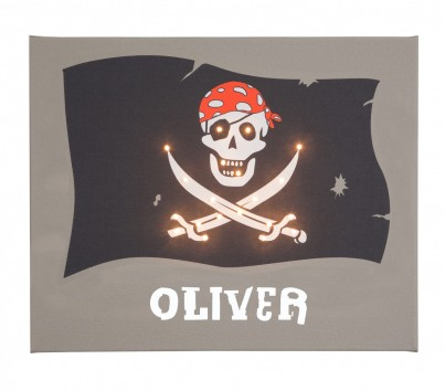 Pirate Flag - Personalised Illuminated Canvas