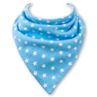 Baby dribble bib by Babble Bib Blue Stars