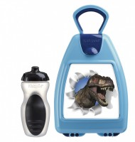 Blue lunchbox with dinosaur