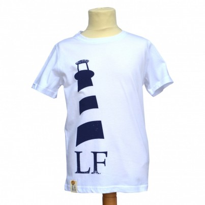 Monkstone Tee in White/Navy
