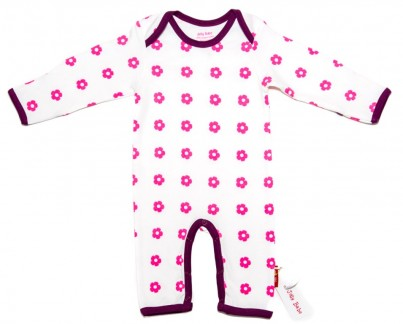 Sweet Flowers Baby Sleepsuit in Organic Cotton