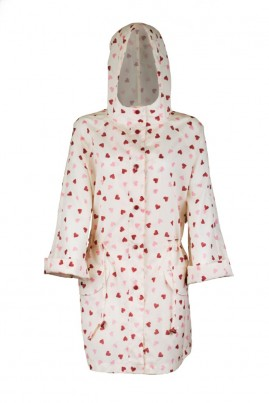 Adult Heart Raincoat