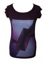 Women's Purple Blocks T-Shirt