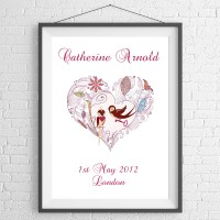Illustrated Heart Print