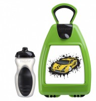 Green lunchbox with car
