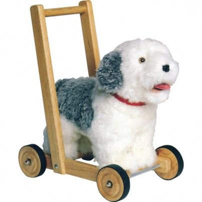 Sheepdog Push Along Traditional Baby Walker